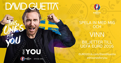 David Guetta. Grafik: UEFA